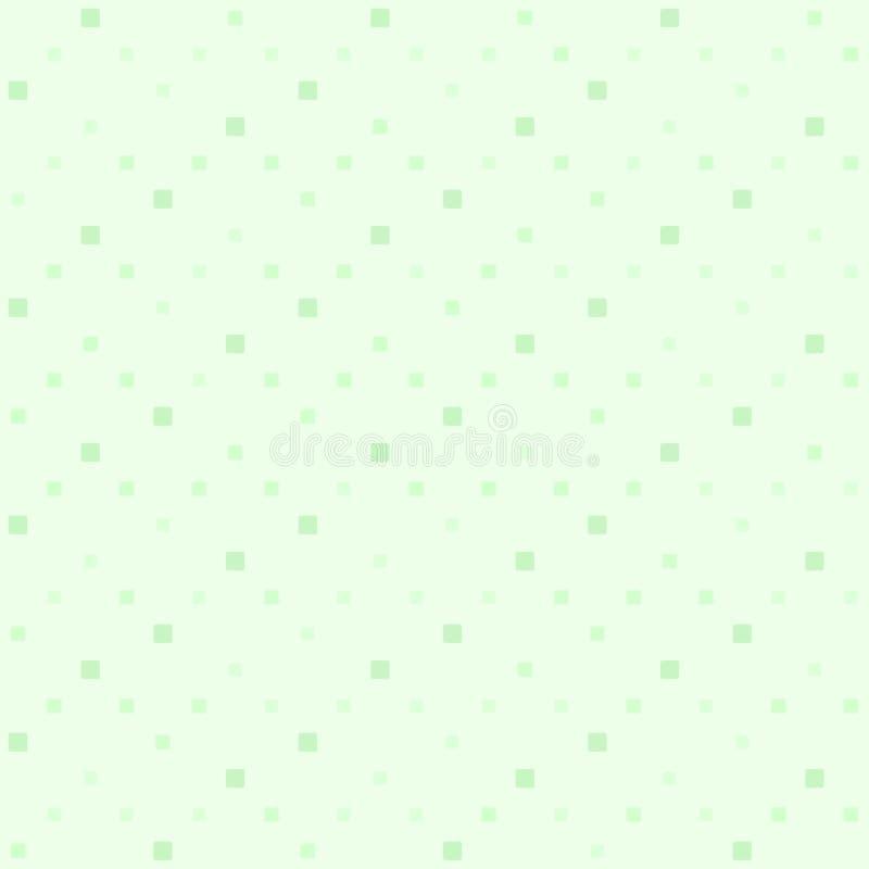Grünes Zickzackquadratmuster Nahtloser vektorhintergrund lizenzfreie abbildung