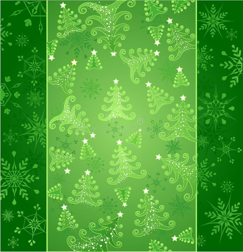 Grünhintergrund des neuen Jahres stock abbildung