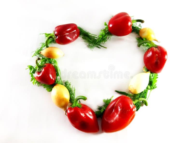 Grüns sortierten Gemüse, Ökologie, Nahrung, Dill Lokalisierter grüner Gegenstand für Entwurf, Herz, Liebe, weißer Hintergrund lizenzfreie stockfotos