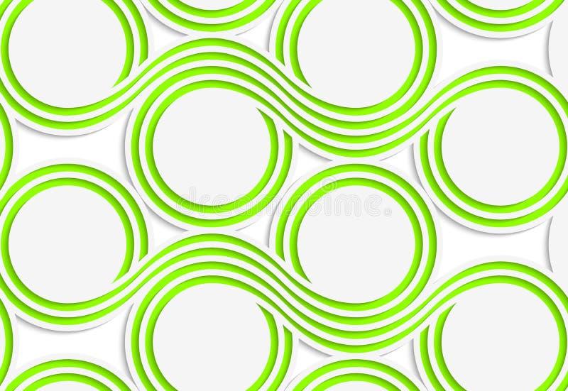 Grünspulen des farbigen Papiers des Weiß vektor abbildung