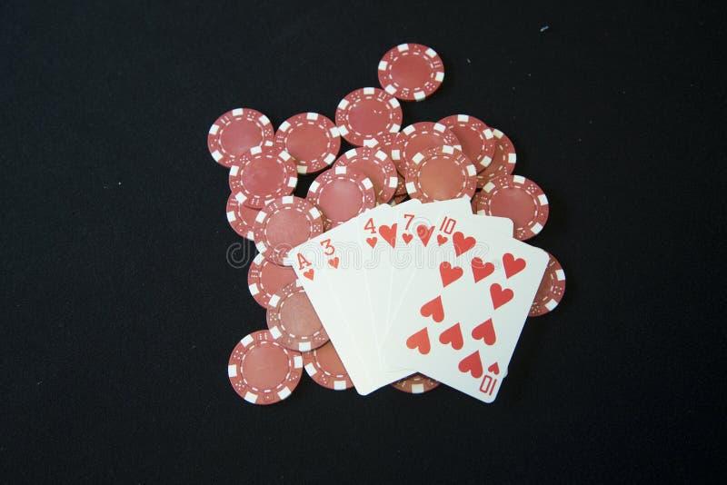 grępluje kasynowy bawić się układ scalony obraz stock