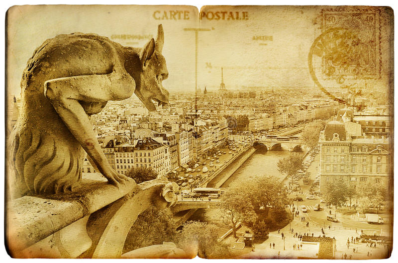 grępluje parisian ilustracja wektor