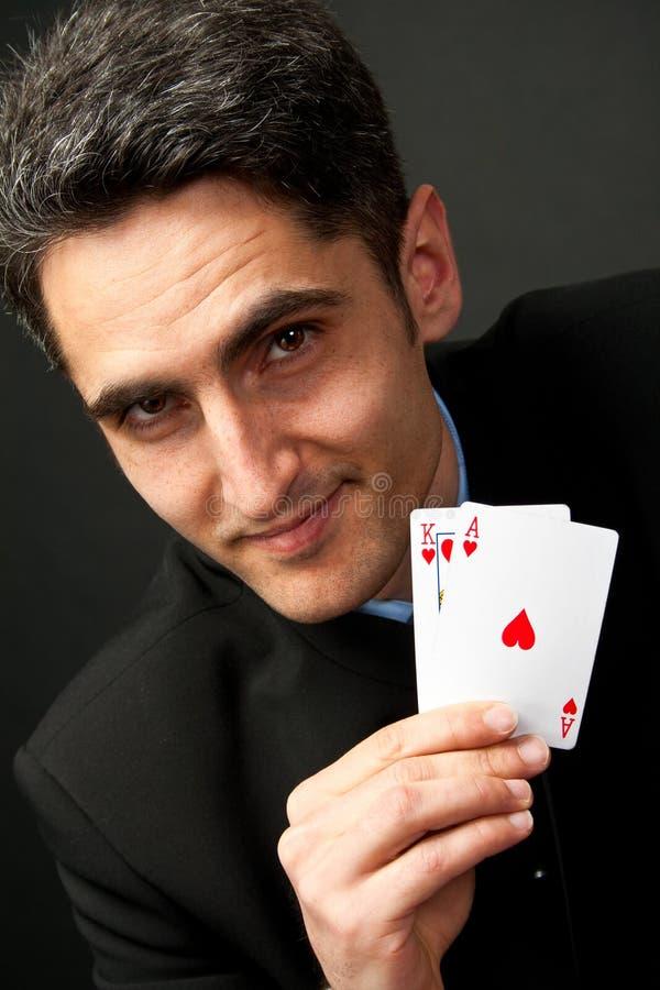 grępluje szczęsliwych hazardzistów potomstwa obraz stock
