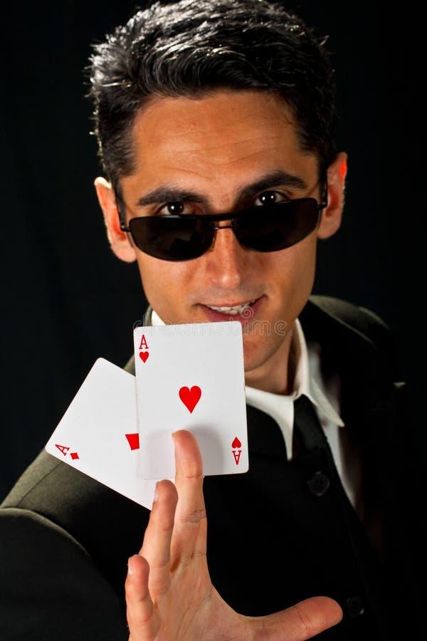 grępluje szczęsliwych hazardzistów potomstwa fotografia stock