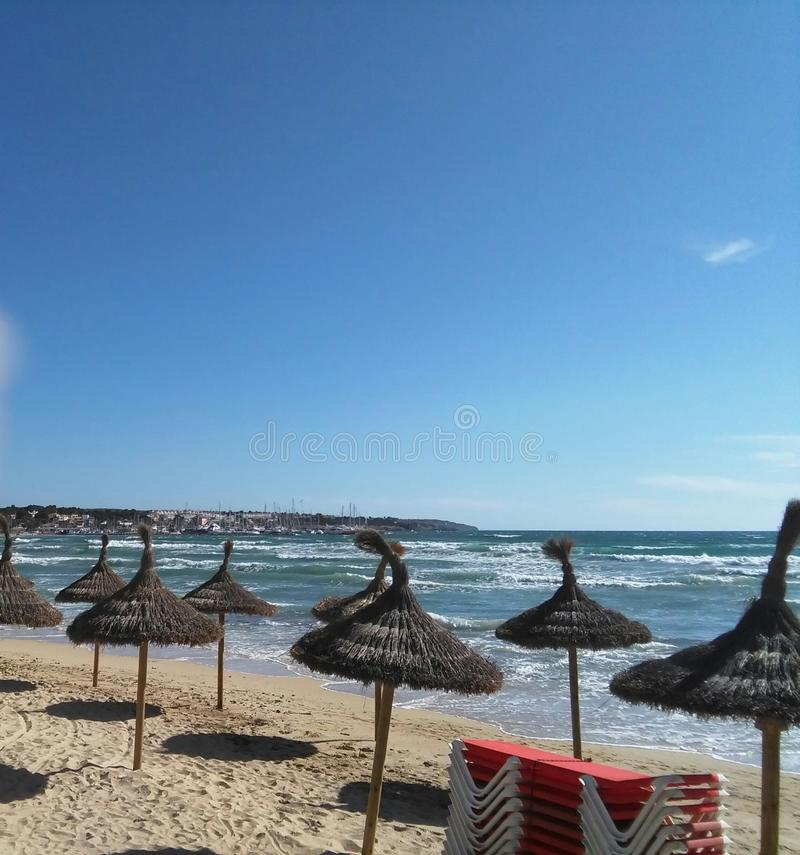 Gr Arenal, Illa de Mallorca stock afbeelding