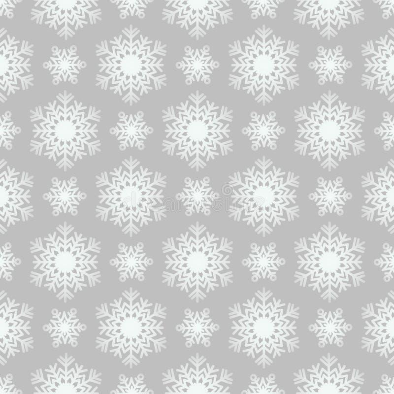 grå modellsnowflake för bakgrund royaltyfri illustrationer