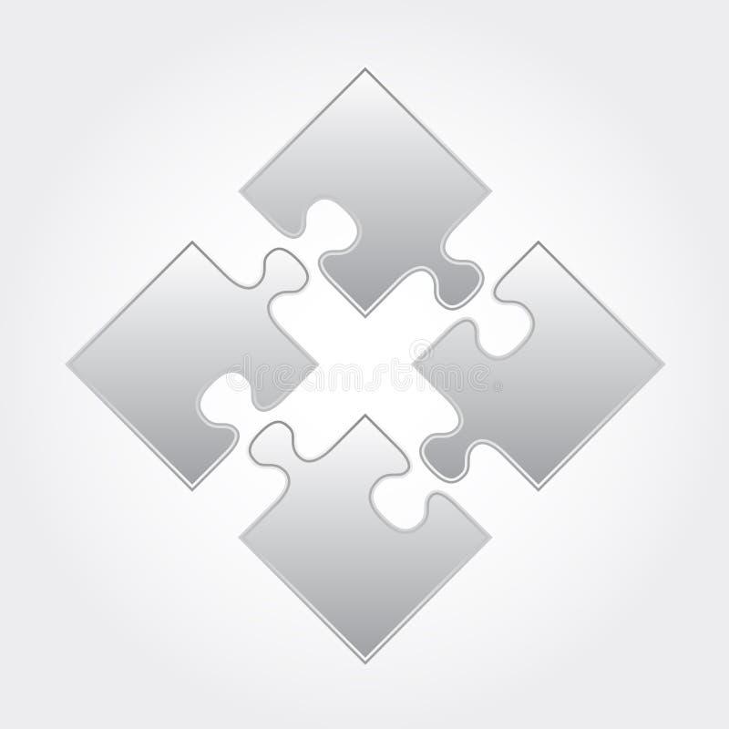 grå pusselfyrkant vektor illustrationer