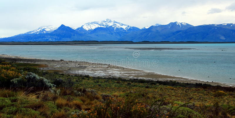 Gr Calafate, Meer Argentino royalty-vrije stock foto's