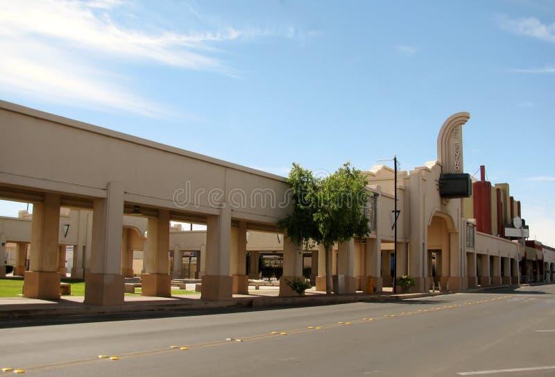 Gr Centro is een kleine stad in de Keizervallei, Californië, stock afbeelding