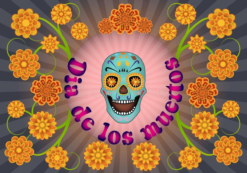 Gr Dia DE Los Muertos royalty-vrije illustratie
