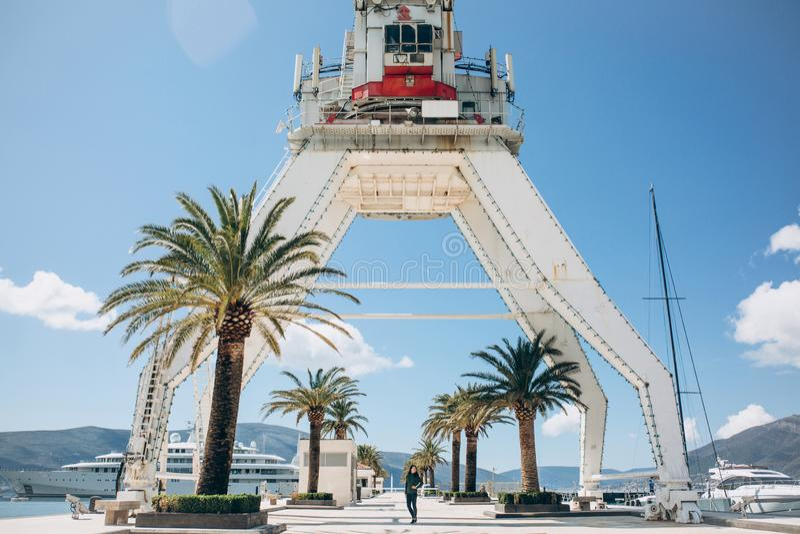 Gr?a en Oporto Montenegro en Tivat fotografía de archivo