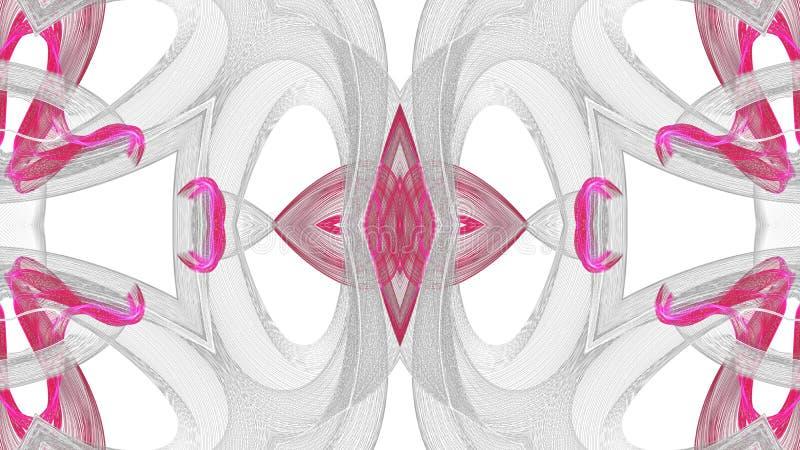 Gr? f?r Digital konst abstrakt och r?d design p? vit bakgrund stock illustrationer