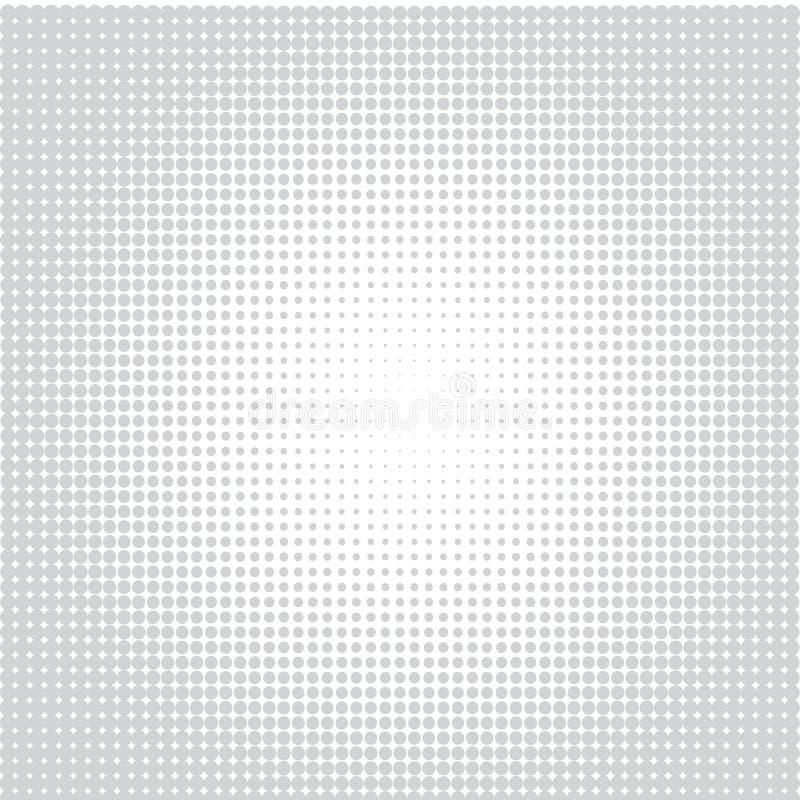 Gr? f?rgprickar p? vit bakgrund stock illustrationer