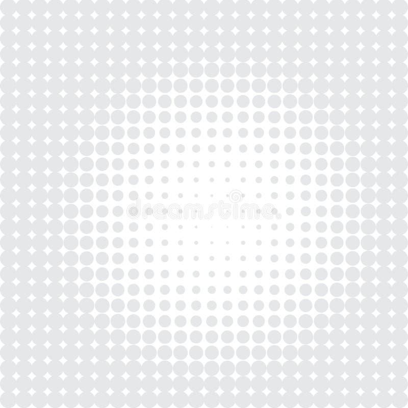 Gr? f?rgprickar p? vit bakgrund royaltyfri illustrationer