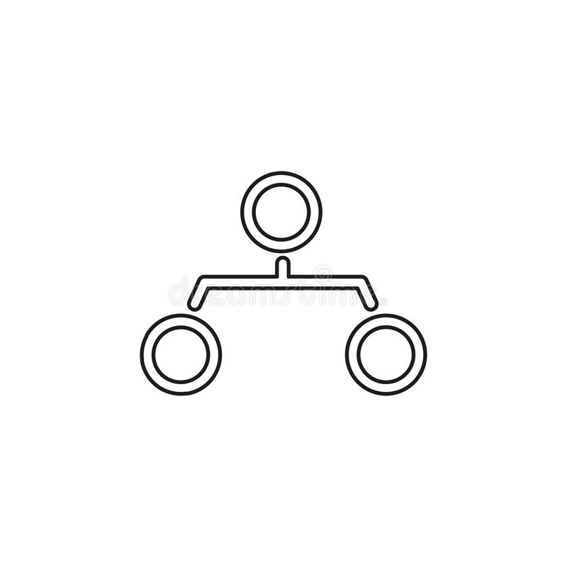 Gr?fico de estrutura da hierarquia do ?cone do organograma ilustração royalty free