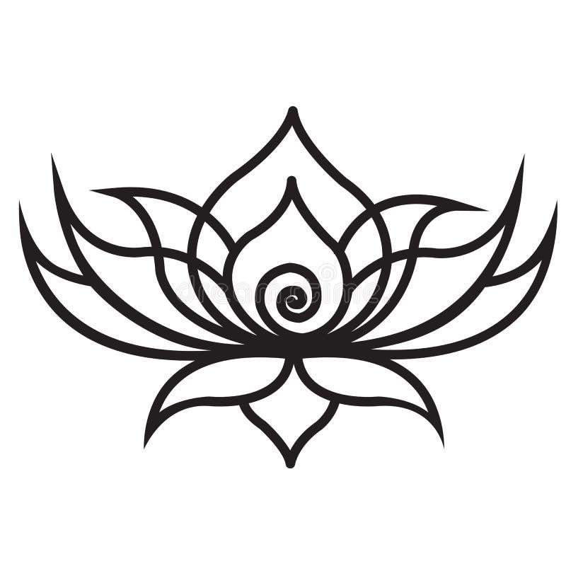 Gr?fico de Lotus para moldes cortados para o corte do laser ilustração stock