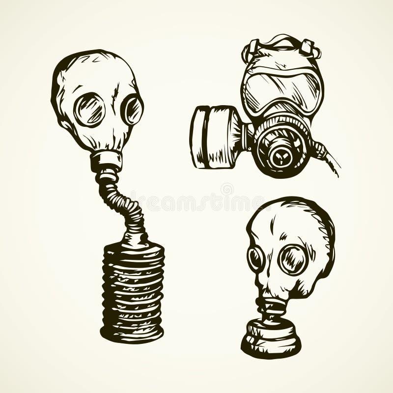Gr?fico del vector Gas mask stock de ilustración