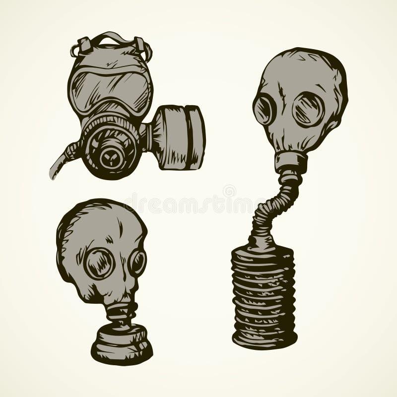 Gr?fico del vector Gas mask ilustración del vector