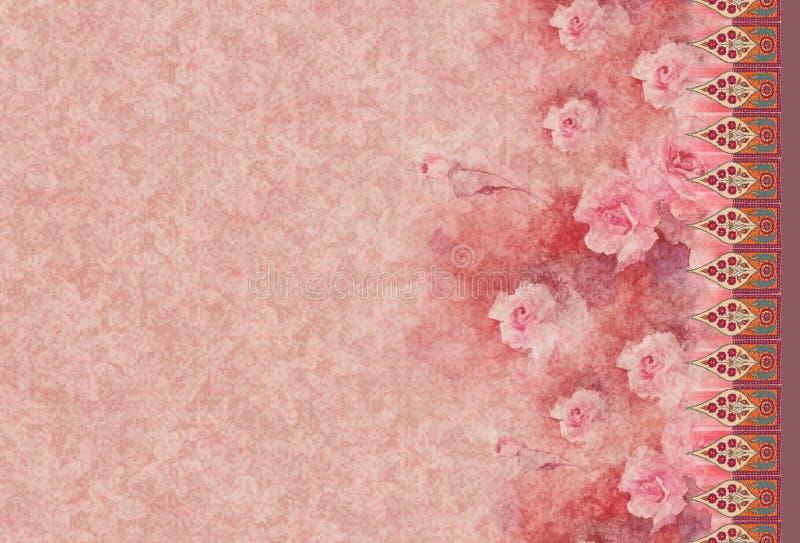 Gr?ficos coloridos digitais da imagem do teste padr?o da cor do kurti da flor da foto bonitos ilustração royalty free
