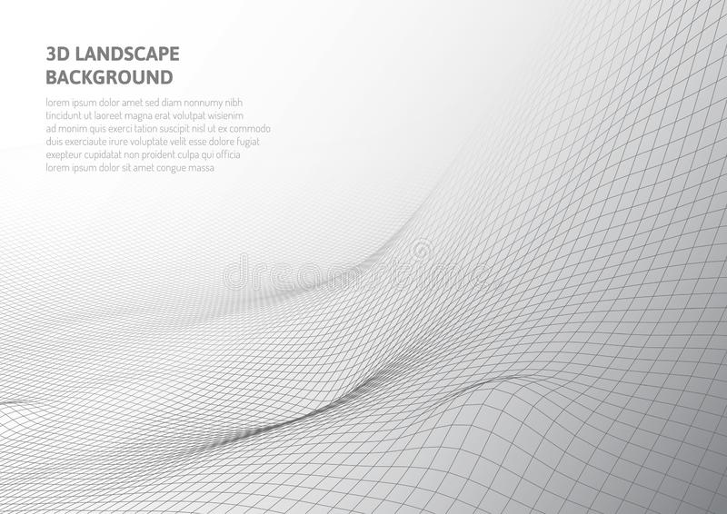 Gr?ficos 3D abstratos Realidade virtual e ilus?es ?ticas ilustração royalty free