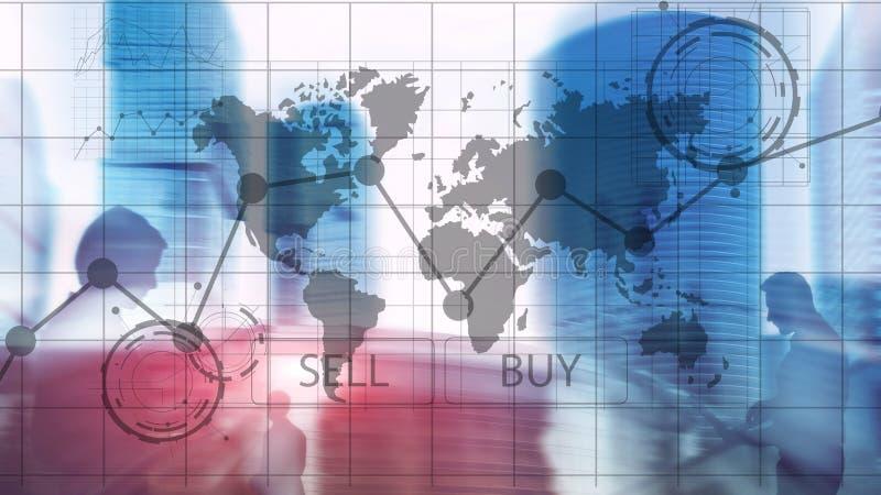 Gr?ficos financieros de la carta de la inversi?n de comercio de las divisas Concepto del negocio y de la tecnolog?a imágenes de archivo libres de regalías