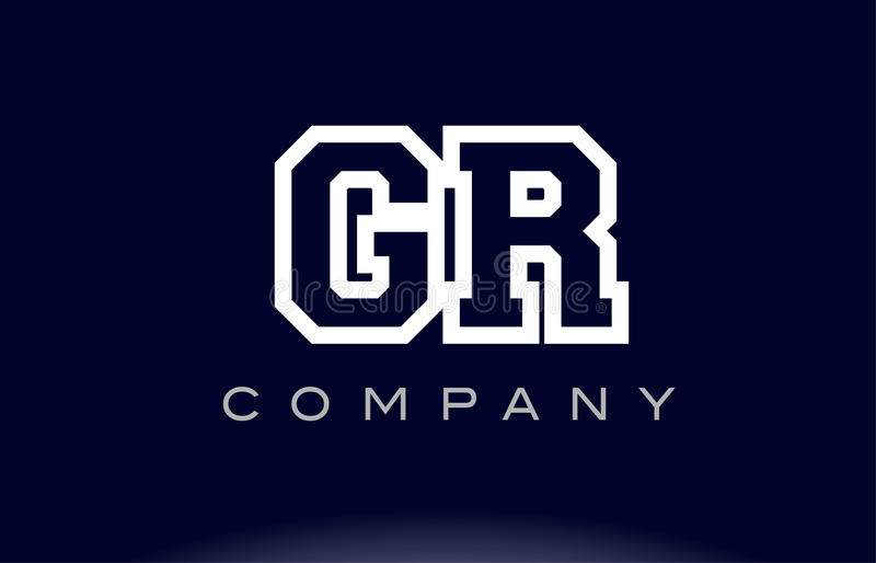 Download GR G R Alphabet Letter Logo Icon Company Stock Vector