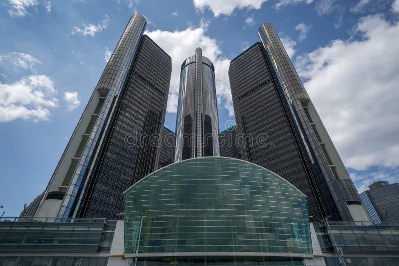 GR.-Hauptsitze in Detroit lizenzfreie stockfotografie