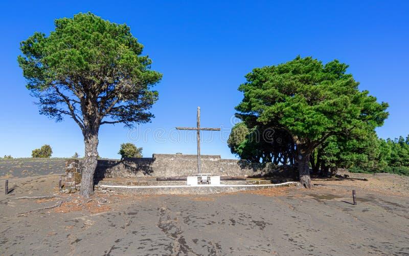 Gr Hierro - Cruz de Los Reyes stock afbeeldingen