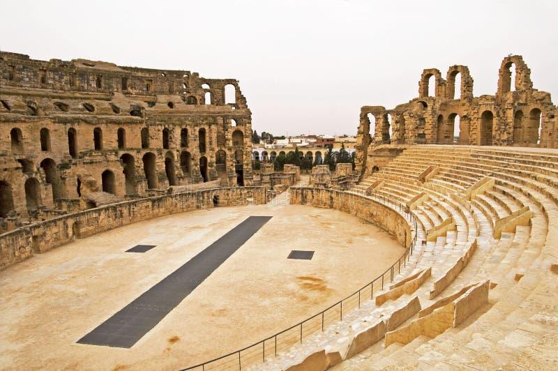 Gr Jem Colosseum stock foto's
