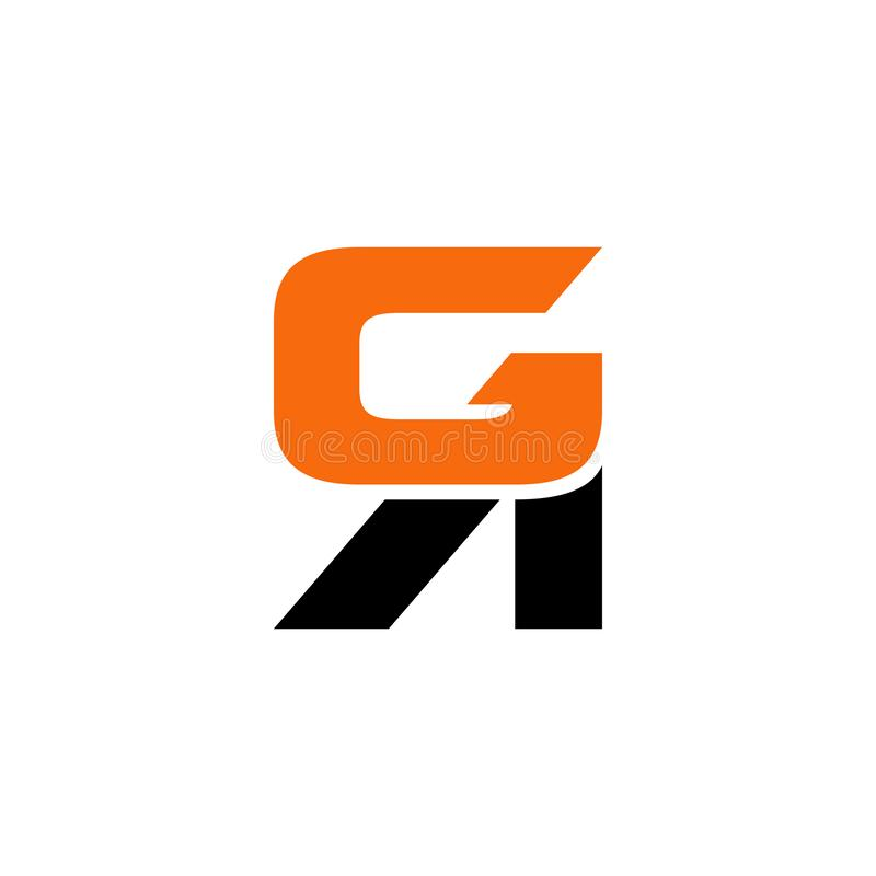 GR or RG initial uppercase letters, bold creative logo. royalty free illustration