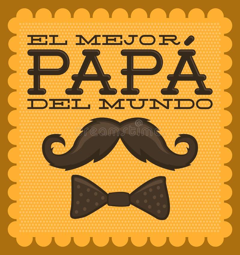 Gr mejor papa del mundo - Werelds beste papa het Spaans royalty-vrije illustratie