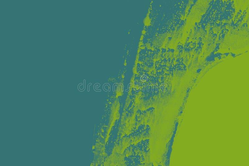 gr?n-blauer Pinselanschlaghintergrund lizenzfreie abbildung