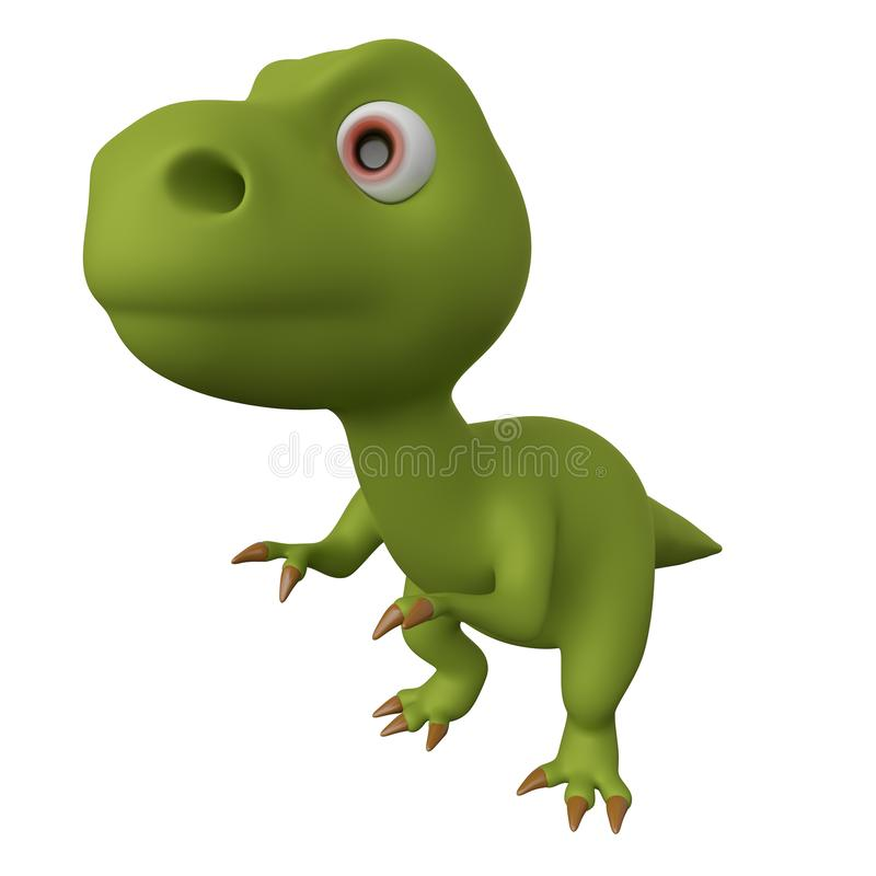 Gr?n Dinosaur framf?rande 3d vektor illustrationer