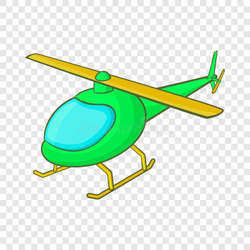 Gr?n helikoptersymbol, tecknad filmstil royaltyfri illustrationer