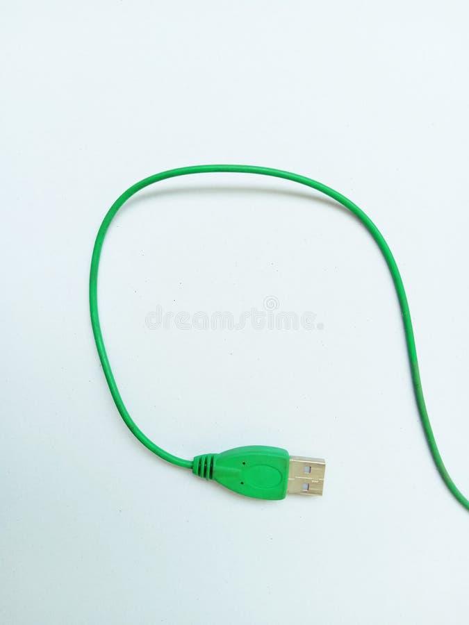 Gr?n kabel arkivfoton