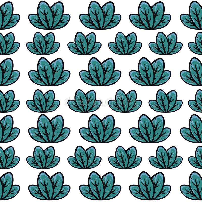 gr?n leafmodell stock illustrationer