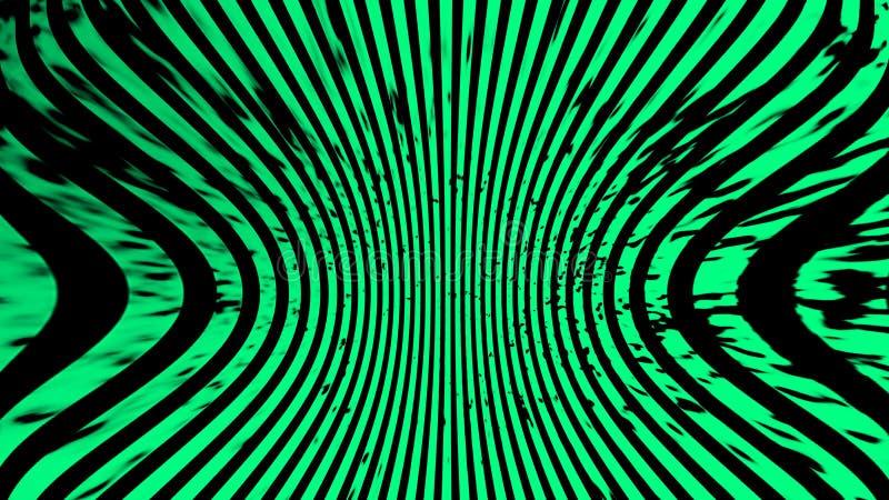 gr?n textur Psykedelisk konst f?r hypnoshalvton Grafisk moderiktig syntwavebakgrund stock illustrationer