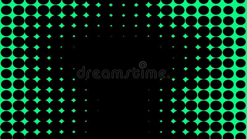 gr?n textur Psykedelisk konst f?r hypnoshalvton Grafisk moderiktig syntwavebakgrund vektor illustrationer