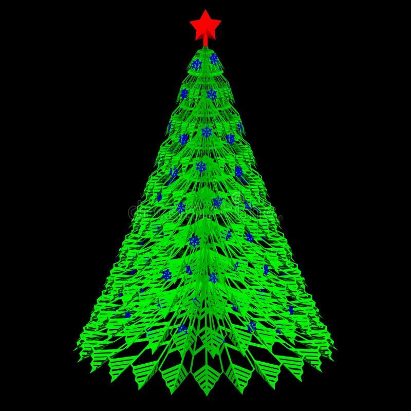Gr?nbuchweihnachten Wiedergabe 3d lizenzfreie abbildung