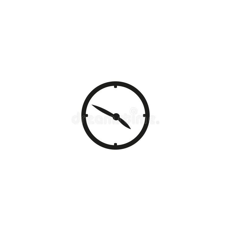 Gr?nden Sie Ihre Zeit Stundenskala mit Zahlen Punktkennzeichenminuten und -stunden Einfache flache Vektorillustration stock abbildung