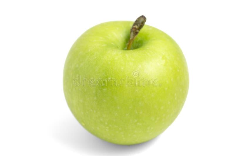 Gr?ner Apfel getrennt auf wei?em Hintergrund stockfotografie