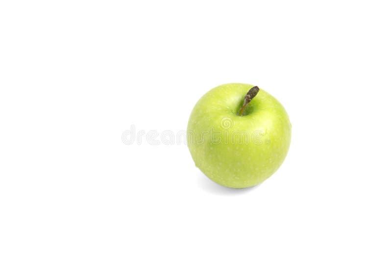 Gr?ner Apfel getrennt auf wei?em Hintergrund lizenzfreies stockbild