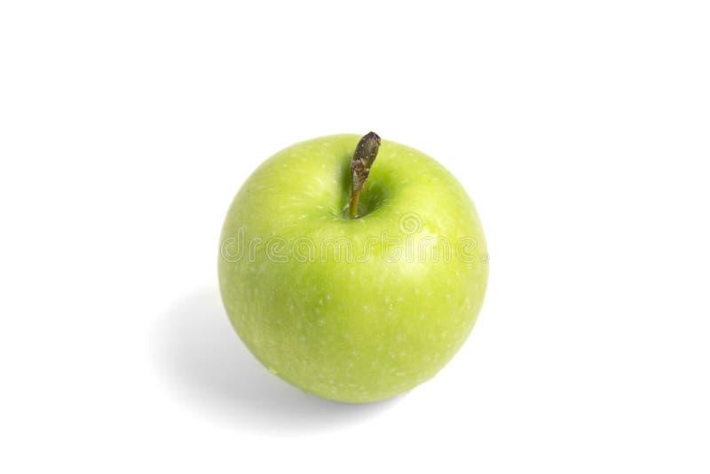 Gr?ner Apfel getrennt auf wei?em Hintergrund lizenzfreie stockbilder