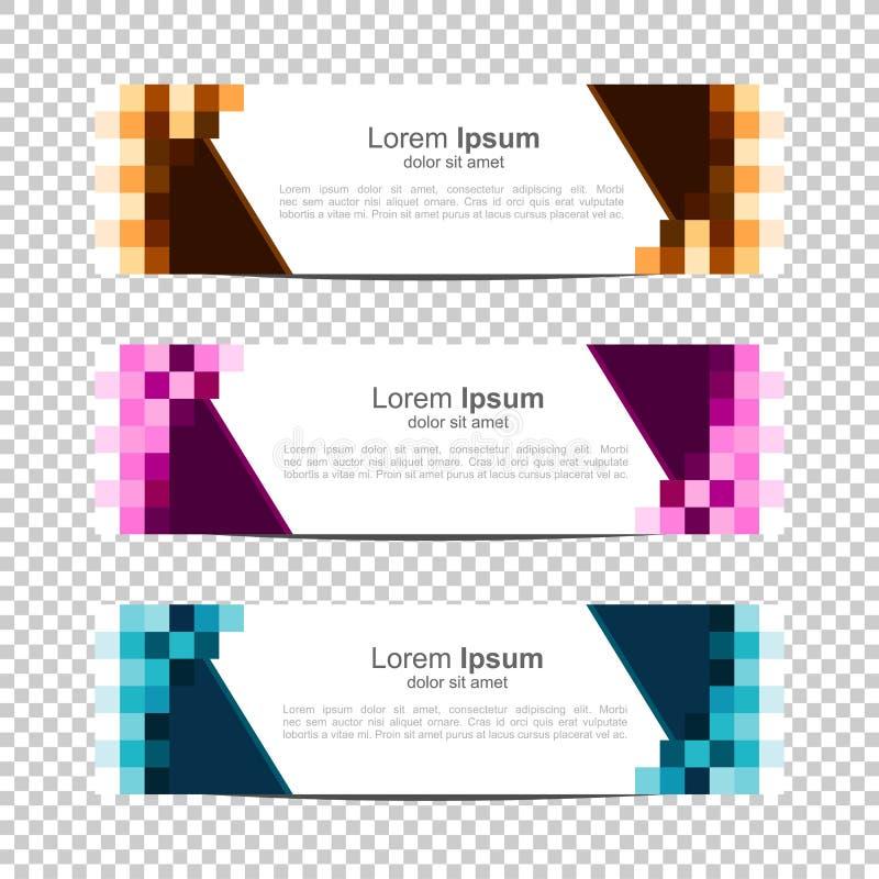 Gr?ner Hintergrund Modernes Schablonendesign Pixel, Block, Gitter Vektorentwurf Fahnenhintergrund lizenzfreie abbildung