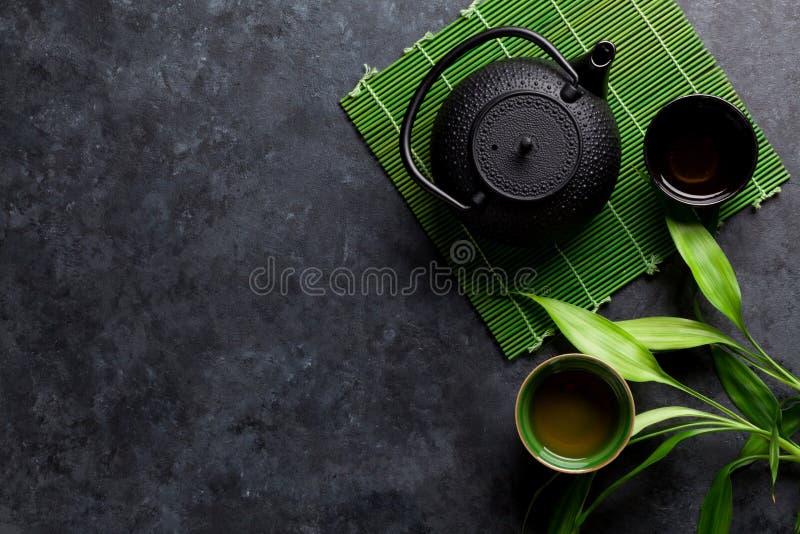 Gr?ner japanischer Tee stockfotos