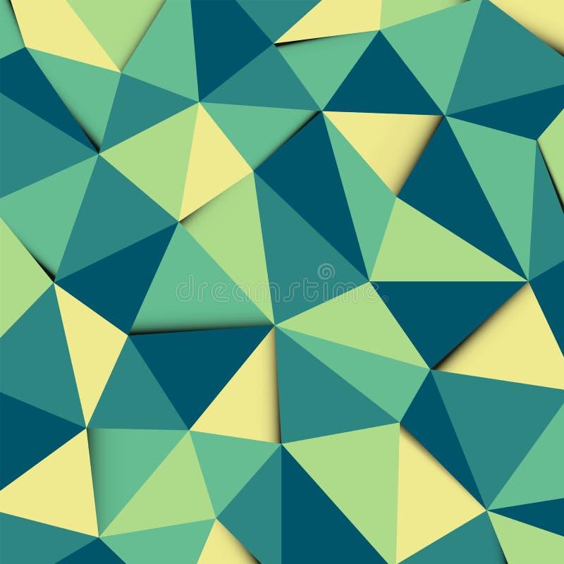 Gr?ner und gelber Polygonmosaikmusterhintergrund vektor abbildung