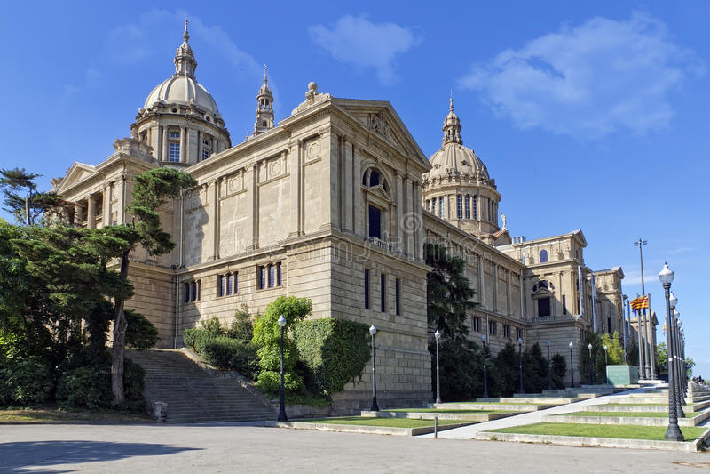 Gr Palacio Nacional DE Montjuic royalty-vrije stock fotografie