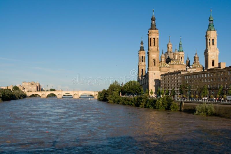 Gr Pilar in Zaragoza royalty-vrije stock foto's