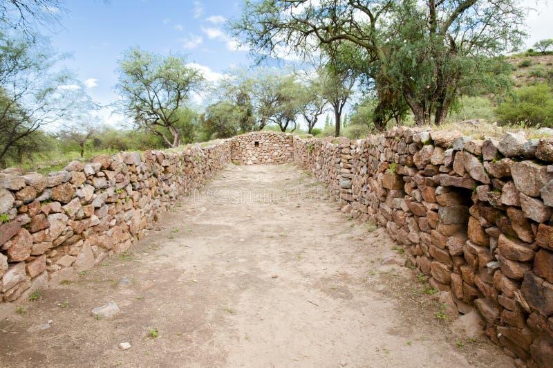 Gr Shincal Inca Ruins - Catamarca - Argentinië royalty-vrije stock foto