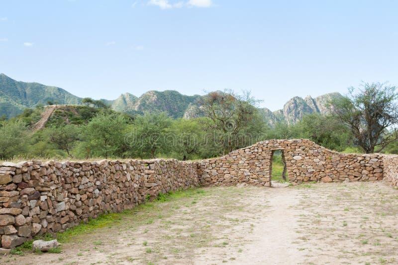 Gr Shincal Inca Ruins - Catamarca - Argentinië royalty-vrije stock foto's